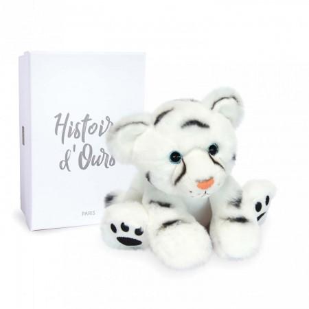 HO3053-Peluche Bébé Tigre Blanc - 18 cm