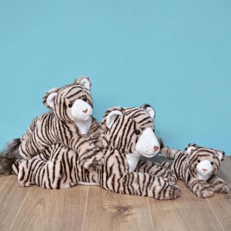 HO3060 -Peluche Tigre Beige - 25 cm