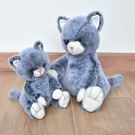 HO3069 - Peluche Chat Bleu - 17 cm